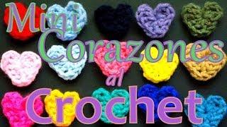 Cómo Tejer Mini Corazones Al Ganchillo (crochet Hearts