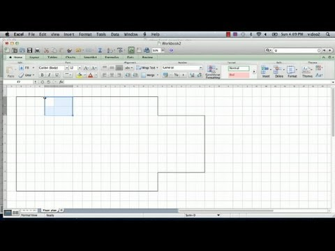 How To Make A Floorplan In Excel Microsoft Excel Tips Youtube