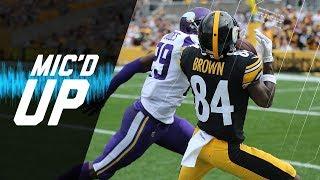 "Antonio Brown Mic'd vs. Xavier Rhodes ""I'm Tony Toe-Tap""  | NFL Films | Sound FX"