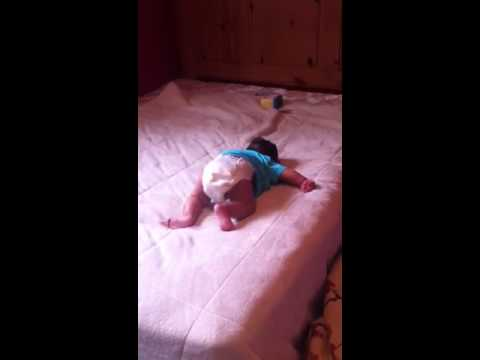 baby falling off the bed youtube