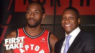<Will Kawhi stay with the Raptors now that Masai Ujiri is a lock? | First Take - ESPN