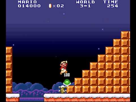 Super Mario All-Stars - 100 Lives Trick in World 3-1 of Super Mario Bros. (All Stars Version) - User video