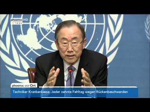 Irak-Konflikt - Ban Ki Moon zur aktuellen Lage am 17.06.2014