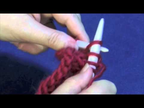 Knitting Stitches Sk2p : SK2P (Slip, knit two together, pass slip stitch over) - YouTube