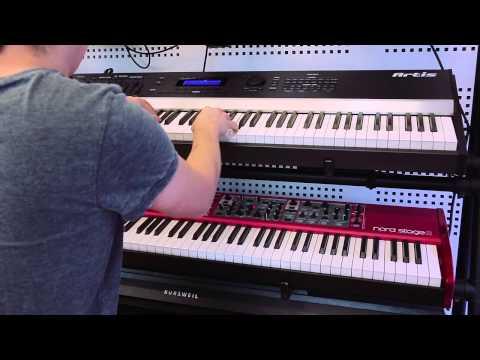 Hình ảnh trong video Kurzweil Artis vs Nord Stage vs Yamaha Motif