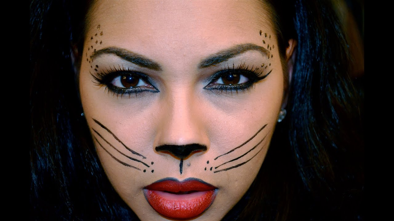 how to draw halloween cat makeup images