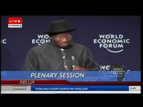 WEFA: Jonathan Says Participants' Attendance Is 'Major Blow' Against Boko Haram Prt.1