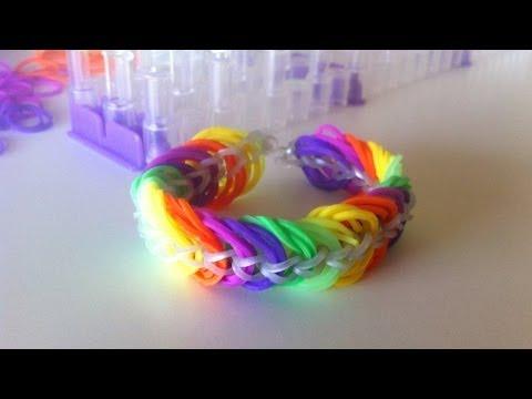 Pulseiras de Elásticos Rainbow Loom: Como fazer uma pulseira triple link chain com elásticos