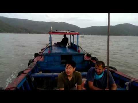 Vietnam 2014. Quy Nhon City Harbor boat ride.