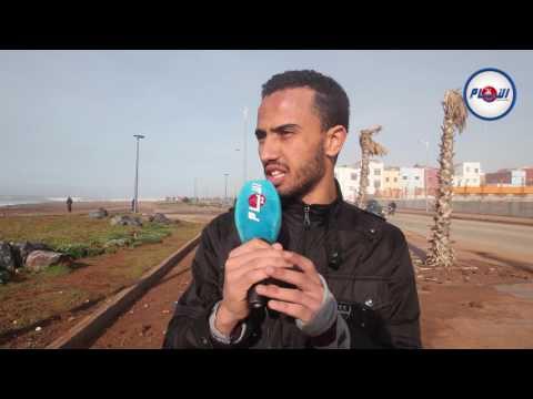 سكان حي سيدي موسى بسلا بعد علو الأمواج