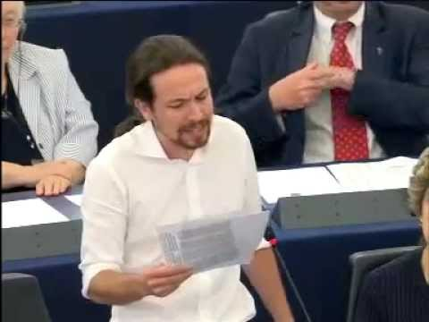 Pablo IGLESIAS - GUE candidate for the European Parliament Presidential elections ( OR )