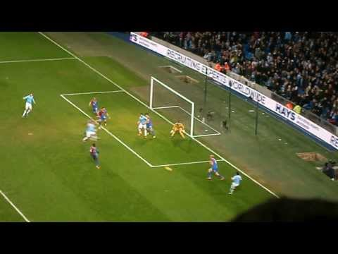 Dzeko's goal for Man City vs Crystal Palace 28/12/13