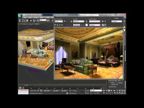 Light an interior scene in 3ds Max (2 of 2)