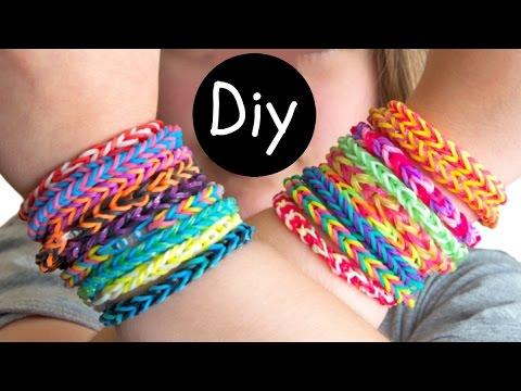 DIY #9: Como fazer pulseiras de elástico (Brasil) Fishtail e Hexafish