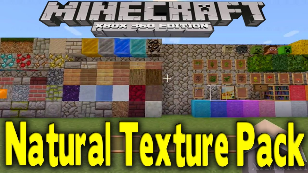 Minecraft Xbox 360 - EARLY NATURAL TEXTURE PACK GAMEPLAY (Showcase All Blocks) - YouTube