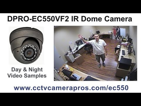 DPRO-EC550VF2 IR Dome Camera Sample CCTV Surveillance Video