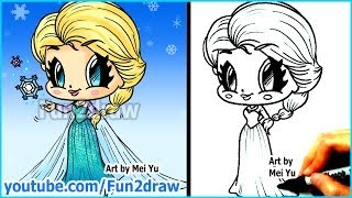 How To Draw Disney Princesses & Characters Elsa From