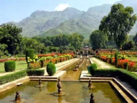 Nishat Bagh - Mughal garden in Srinagar - Kashmir Tourism