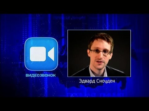 Snowden Asks Putin Question on Russian Talk Show
