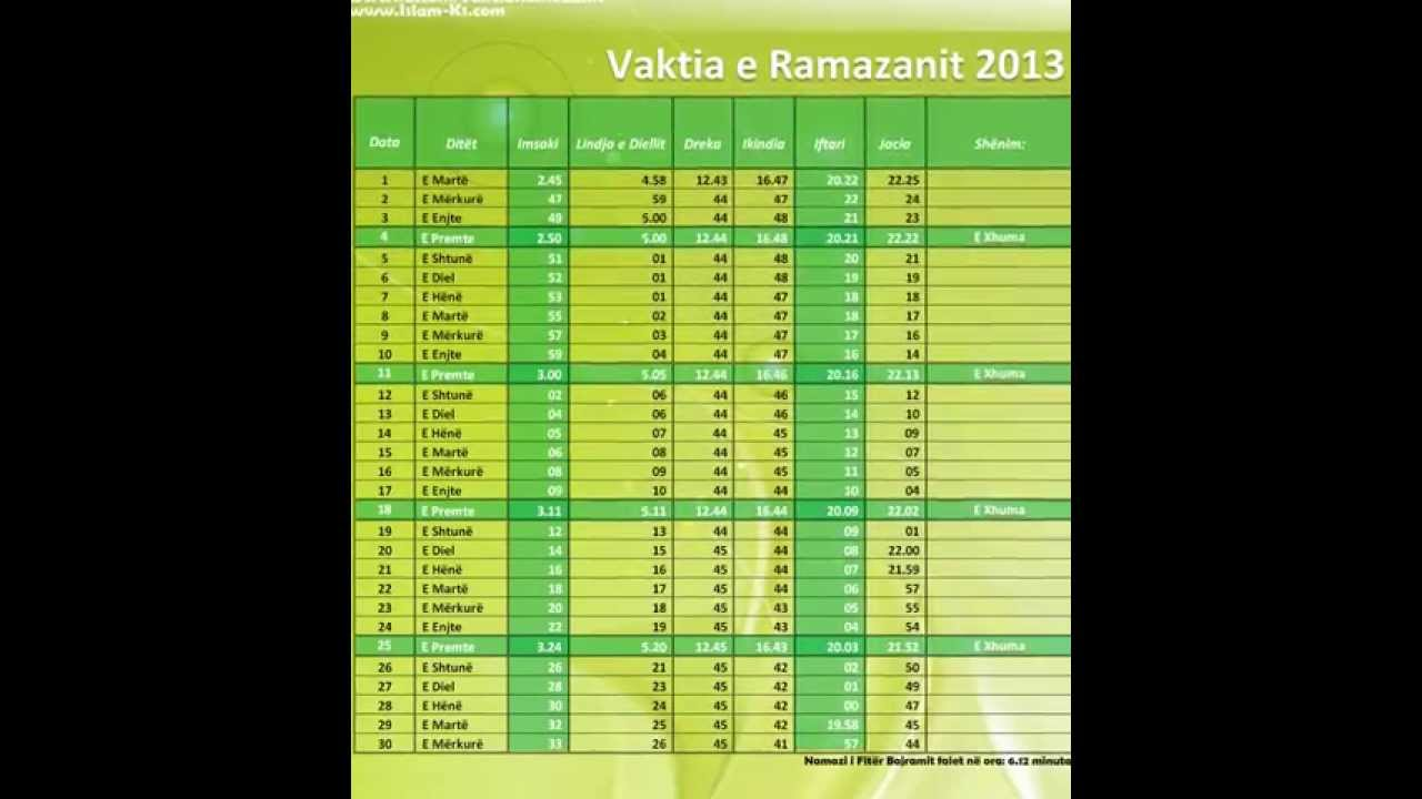 my blog kalendari i ramazanit 2013 to download vaktija kalendari i ...