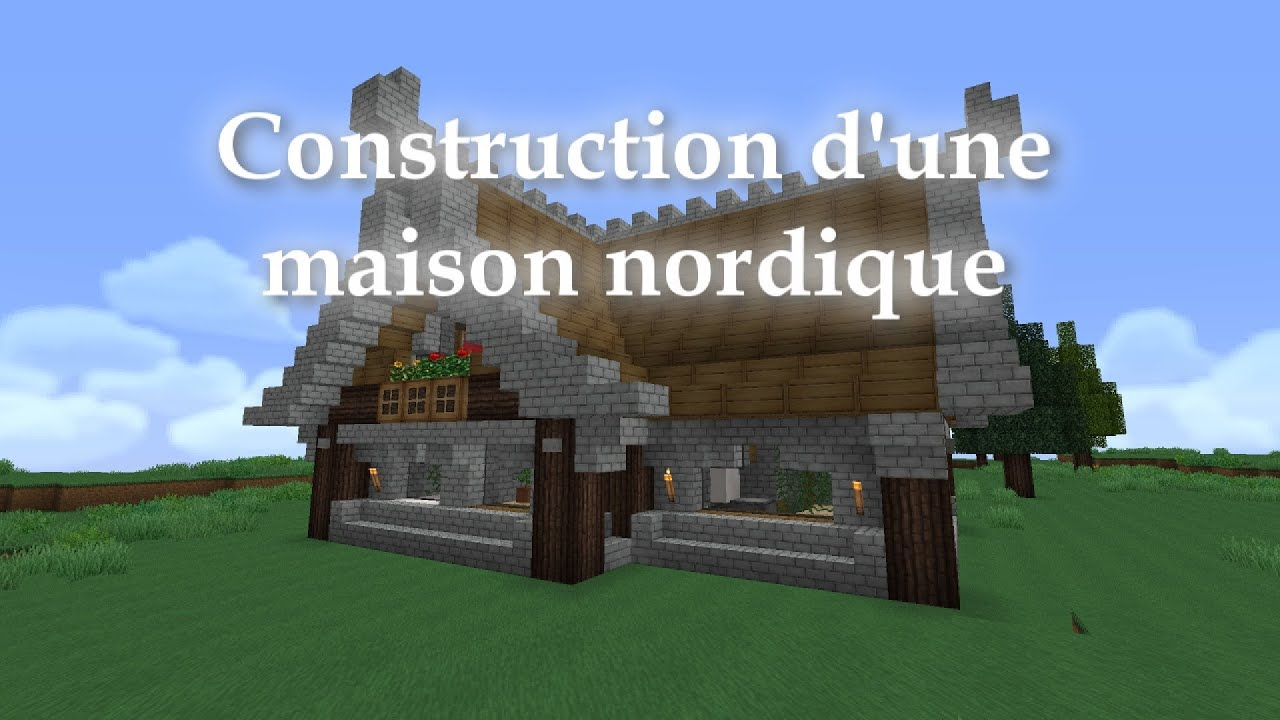 minecraft construction d 39 une maison nordique style skyrim youtube. Black Bedroom Furniture Sets. Home Design Ideas