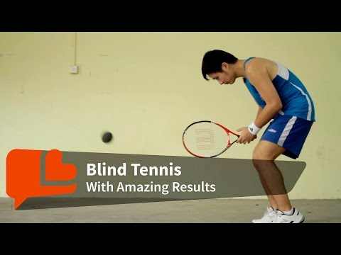 Amazing blind tennis players!