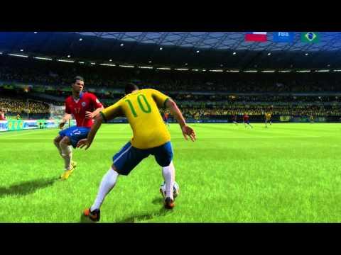 2014 FIFA World Cup Brazil - Simulación del partido Brasil vs Chile