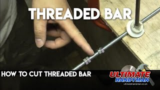 Cutting threaded bar