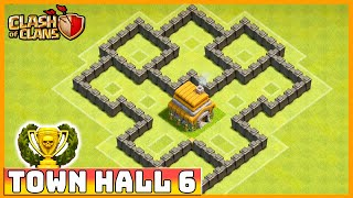Clash Of Clans DEFENSE STRATEGY Townhall Level 6 (CoC