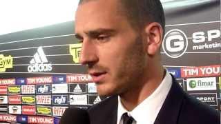25/04/2012 - Campionato - Cesena-Juventus 0-1, intervista a Bonucci