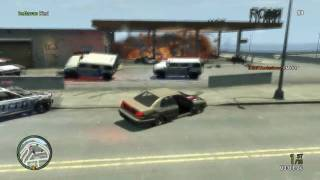 "GTA IV: ""Busted!"" Most Epic Escape Ever!  Almost"