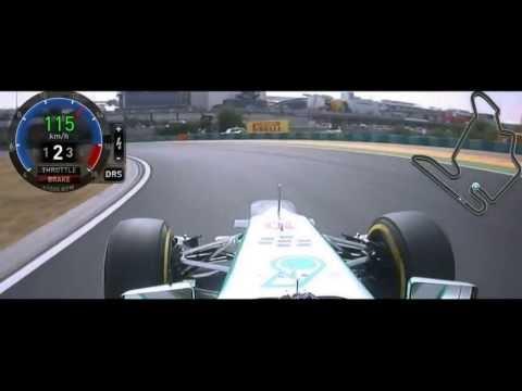 F1 2013 Hungarian GP Lewis Hamilton Onboard [FOM] HD