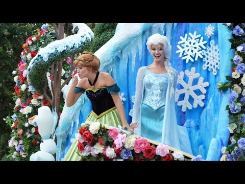 Festival of Fantasy FULL Parade with Frozen Music Added to Anna & Elsa Float, Magic Kingdom