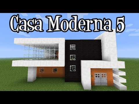 Tutoriais minecraft como construir a casa moderna 5 youtube for Casa moderna minecraft pe 0 10 5