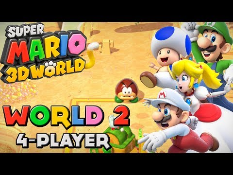 super mario 3d world 4 players wiiriketopray