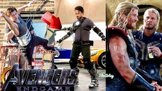 Avengers 4: End Game Cast Stunt Performances With Out Stunt Doubles - 2018