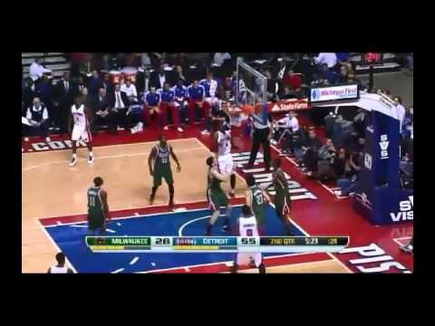 NBA CIRCLE - Milwaukee Bucks Vs Detroit Pistons Highlights 25 Nov. 2013 www.nbacircle.com