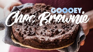 How To Make A Gooey Vegan Chocolate Brownie Recipe. #spon