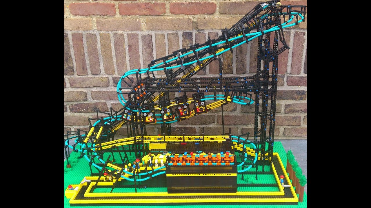 Working Inverted Lego Roller Coaster Youtube