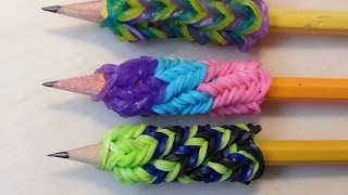 RAINBOW LOOM PENCIL GRIP How To Make EASY