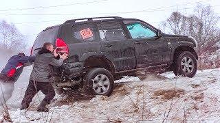 Битва Стоковых  Toyota Prado vs Нива vs УАЗ vs Suzuki Grand Vitara vs Jeep Grand Cherokee  off-road. Полный Привод 4х4 - Офф Роуд Видео.