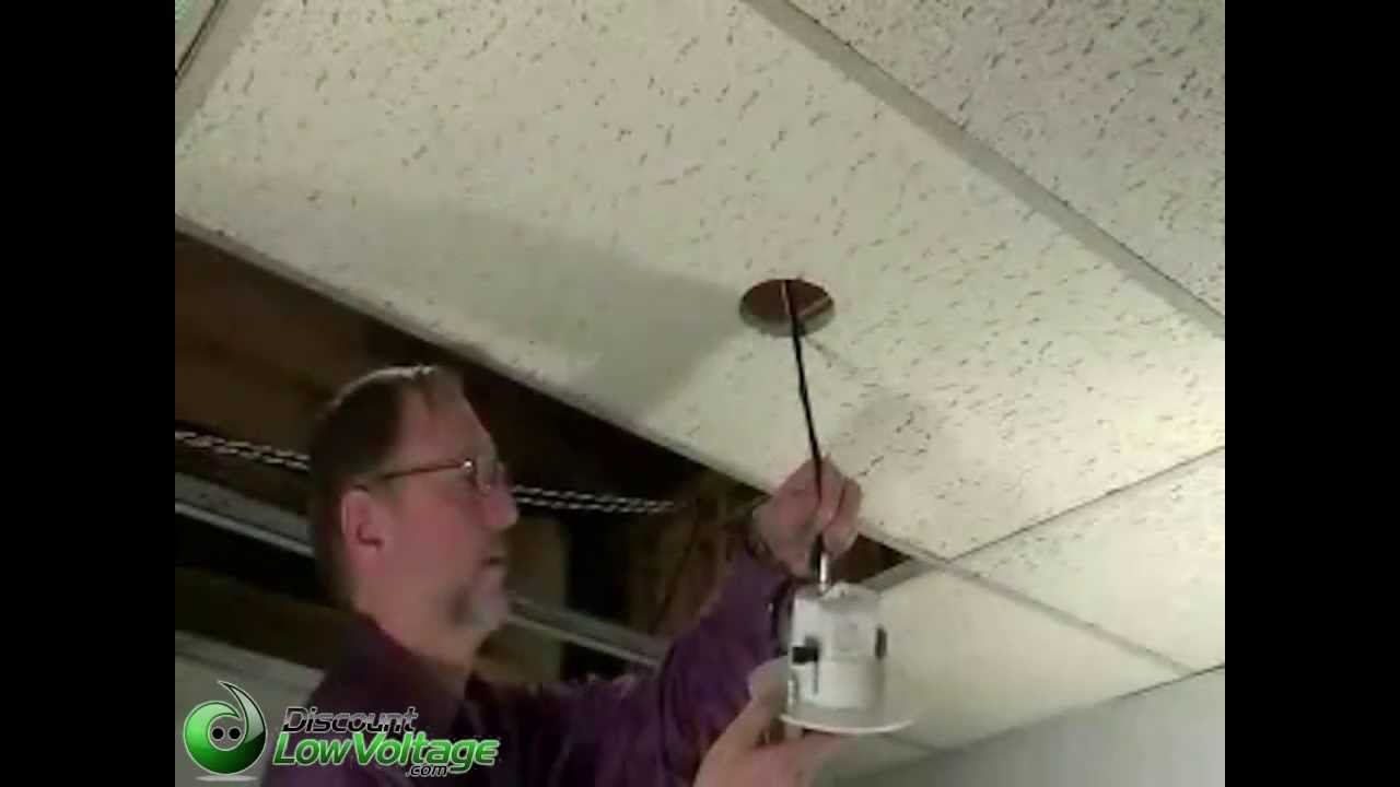 How To Mount A Security Camera To A Ceiling Tile