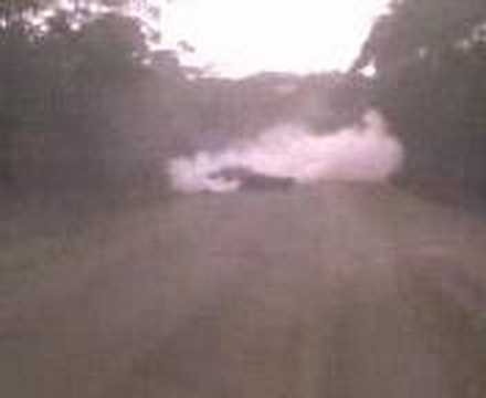 supercharged v6 commodore burnout