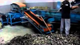 Pequeña línea de reciclaje de neumáticos/llantas