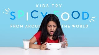 Kids Try Spicy Food from Around the World   Kids Try   HiHo Kids