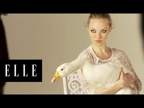 Amanda Seyfried Behind-the-Scenes ELLE Cover Shoot April 2011
