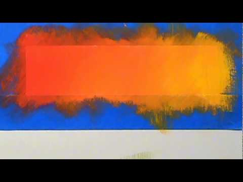 blending acrylic paint red through yellow youtube