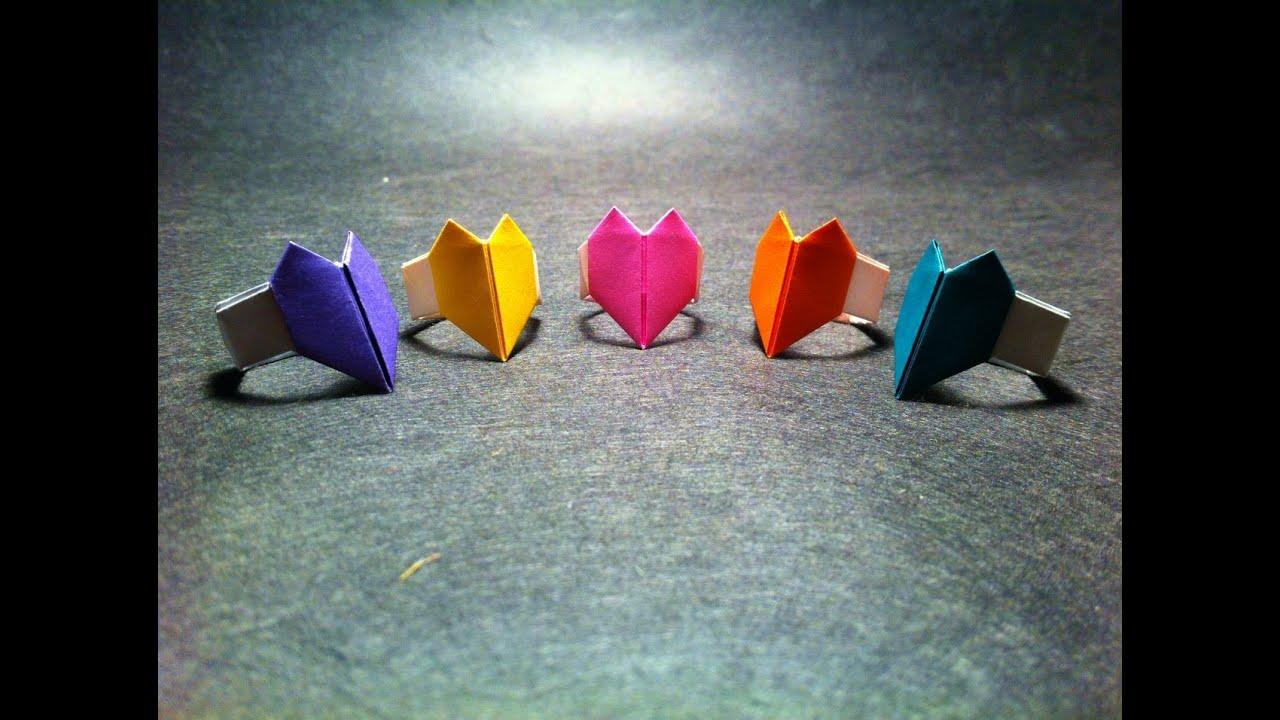 origami heart ring youtube