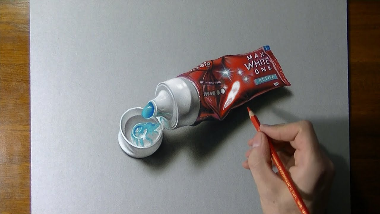 Comment dessiner un tube de dentifrice ?
