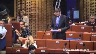 Discursul deputatului Ion Popescu la APCE (rusă)